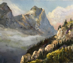 Rocky Mountains 25x30cm oil on canvas £150