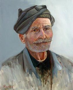 Cretan Man 50x40cm oil on canvas SOLD
