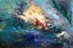 Underwater 61x91cm acrylic on canvas £500