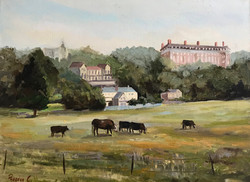 Cows in Richmond 30x40cm oil on canvas £200