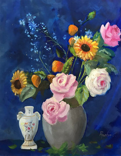 Roses in a Vase 40x50cm oil on canvas £200