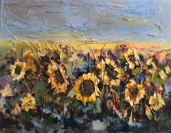 Sunflower fields 40x50cm mix media £250.
