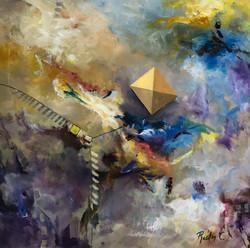 Kite 61x61cm oil on canvas £300