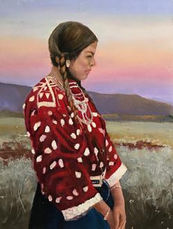 Cheyenne Girl 30x40cm oil on mdf £200