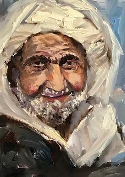 bedouin 21x15cm oil on mdf £120
