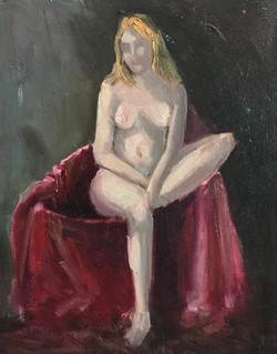 Nude Study 25x30cm oil on canvas £100