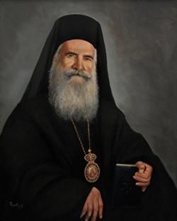 Greek Orthodox Archbishop  Grigorios 60x80cm oil on canvas