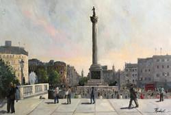Trafalgar square 61x92cm oil on canvas £550