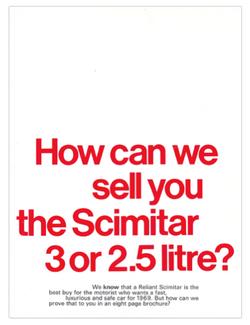 Brochure Reliant Scimitar GT SE4 1968