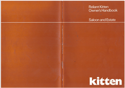 Reliant Kitten Estate & saloon owners handbook