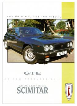Brochure Middlebridge Scimitar GTE-the original and individual