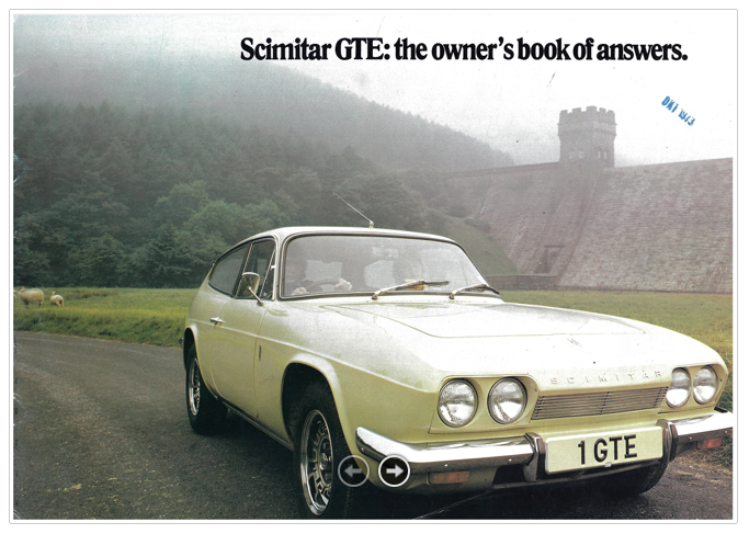 Brochure Reliant Scimitar GTE SE5A 1973.