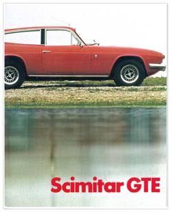Brochure Reliant Scimitar GTE SE5A 1972.