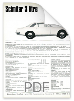 Brochure Reliant Scimitar Coupe Nederlan