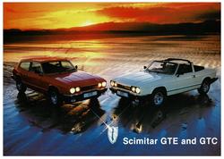 Brochure Reliant Scimitar GTE & GTC a