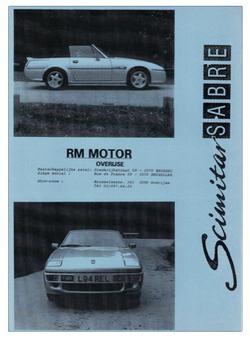 Brochure Scimitar Sabre 1994
