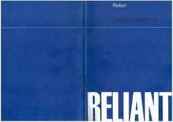 Reliant Rebel service handbook