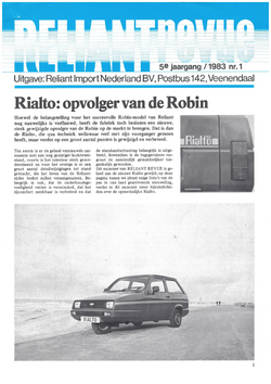 Reliant Revue 1983 nr1