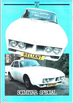 Automobiel 1984 Scimitar SE4 Special voor de Amerikaanse markt