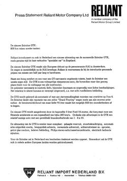 Persbericht Nl imp introductie GTE SE6A