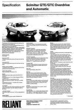 Specificaties GTE & GTC