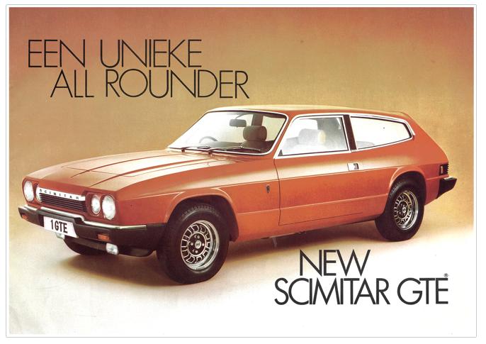 Brochure Reliant Scimitar GTE 6A