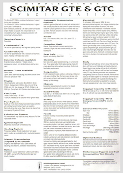 MB GTE GTC SPECIFICATION SHEET