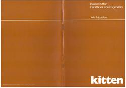 Reliant Kitten Handboek voor eigenaars Nl