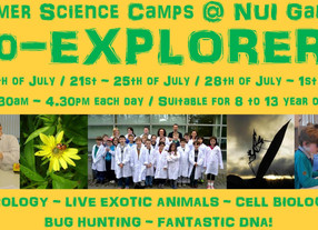 Bio-EXPLORERS summer camp July 2014 - Registration now open!