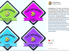 The Cell EXPLORERS badges 2016-17 are out