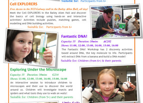 5 Cell EXPLORERS workshops are on the 27th November 2016!