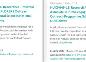 We are recruiting one postdoctoral researcher in Science education and one national coordinator!