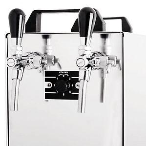 Twin tap beer cooler