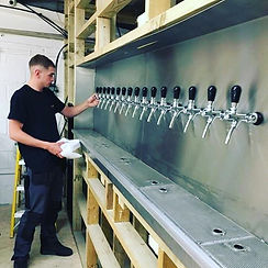 Beer tap wall installation Morepour