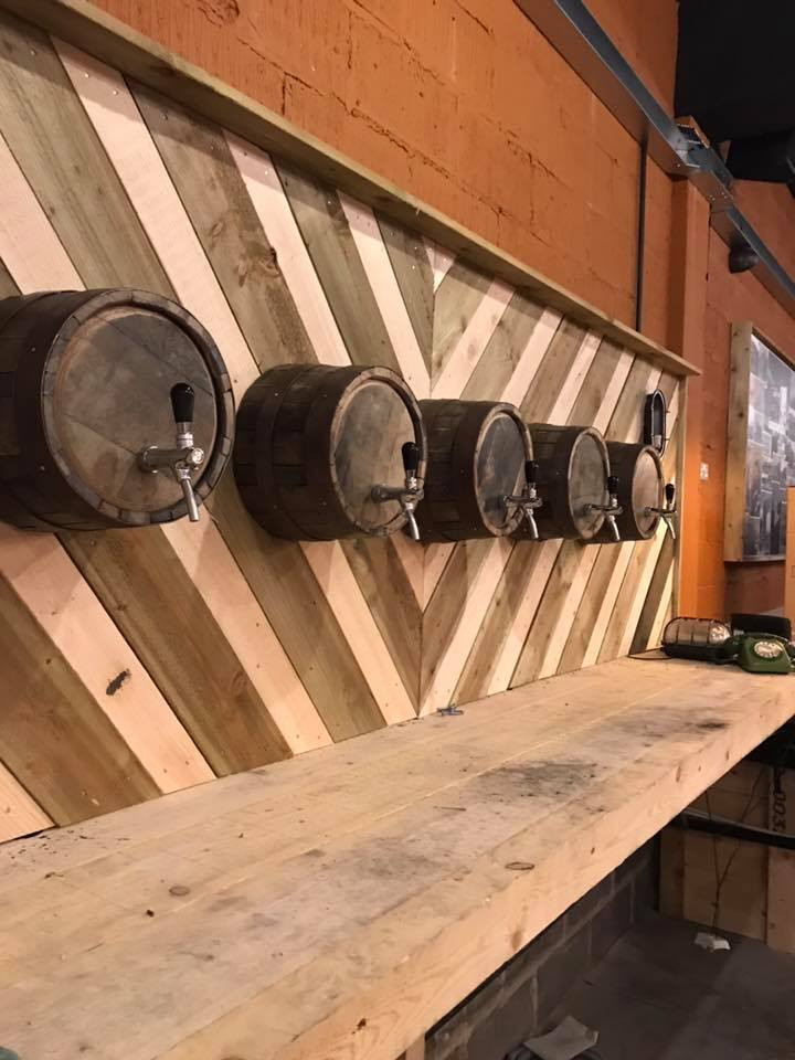 Custom installation onto wine barrels