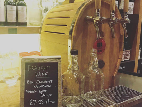 Wine on tap /  draught keg wine refills