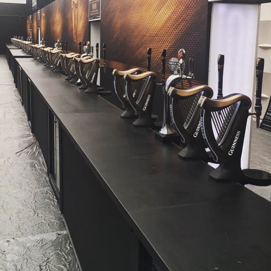 Guinness taps for event