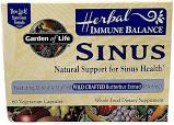 Garden of Life Immune Balance Sinus Capsules