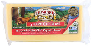 Rumiano Organic Sharp Cheddar Cheese Block