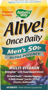 Nature's Way Alive Once Daily Men's 50+ Multi-Vitamin