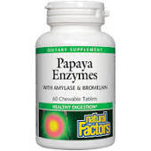 Natural Factors Chewable Papaya Enzymes