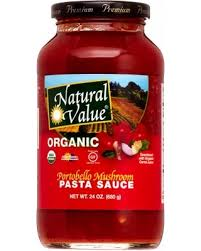 Natural Value Organic Portobello Pasta Sauce