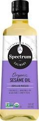 Spectrum Organic Unrefined Sesame Oil