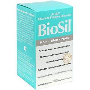 Natural Factors BioSil Hair Skin Nails (120Vcaps)