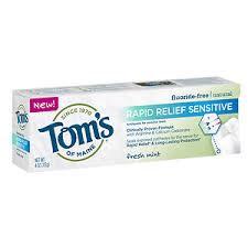 Tom's of Maine Senstitive Relief Toothpaste