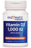 Enzymatic Therapy Vitamin D3 1000 IU