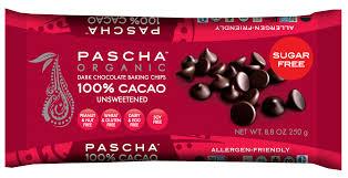 Pascha Organic Unsweetened Chocolate Chips