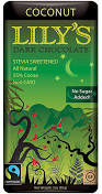 Lily's Sweets Coconut Dark Chocolate Bar