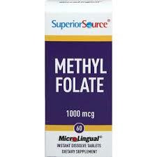 Superior Source Microlingual Methyl Folate 1000 mcg