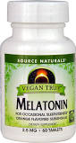 Source Naturals Vegan True Melatonin 2.5 mg